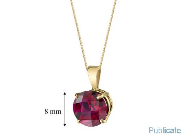 Pandantiv Ruby si Aur 14Karate - 1