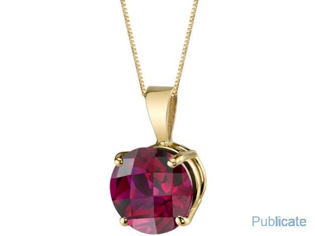 Pandantiv Ruby si Aur 14Karate - 2